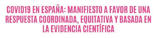 Manifiesto Covid-19