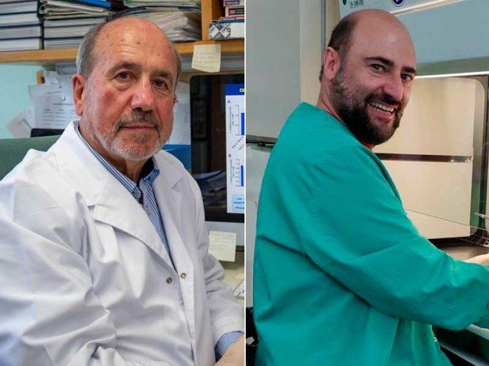 los virólogos Mariano Esteban y Juan García Arriaza