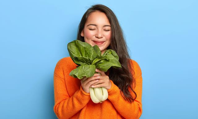 Ácido fólico en verduras de hoja verde